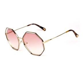 Chloé Poppy CE132S - Turtle/Rosa Degradê 211 58mm - Óculos de Sol