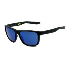 Nike Flip EV0989 - Preto Fosco/Azul Espelhado 074 62mm - Óculos de Sol