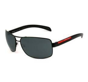 Prada Linea Rossa Eyewear SPS 54I - Preto/Cinza 1BO-1A1 65mm - Óculos de Sol