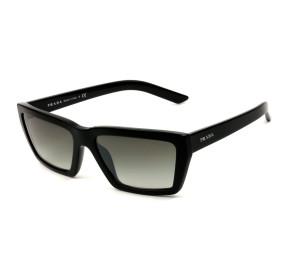 Prada SPR04V - Preto Brilho/Cinza Degradê 1AB-5O0 57mm - Óculos de Sol