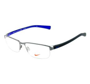 Nike 8098 Grafite/Azul 078 56mm - Óculos de Grau