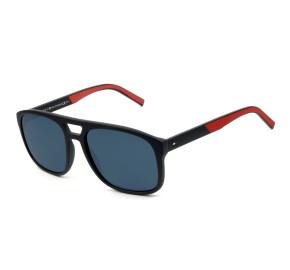 Tommy Hilfiger TH1603/S - Azul Fosco/Vermelho IPQKU 56mm - Óculos de Sol