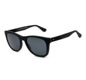 Tommy Hilfiger TH1559/S - Preto Fosco/Cinza 003IR 52mm - Óculos de Sol