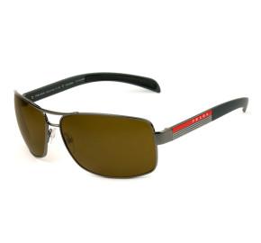 Prada Linea Rossa SPS54I - Grafite/Marrom Polarizado 5AV-5Y1 65mm - Óculos de Sol