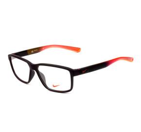 Nike Live Free 7092 - Preto Fosco/Laranja 603 57mm - Óculos de Grau