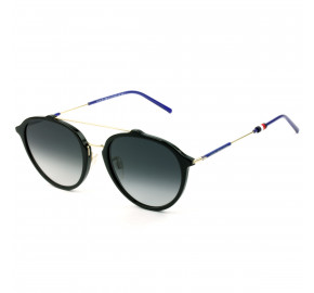 Tommy Hilfiger TH1618/F/S - Preto Brilho/Cinza Degradê 8079O 54mm - Óculos de Sol