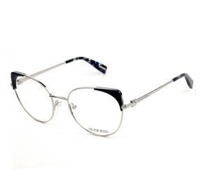 Victor Hugo VH1271 Azul Escuro/Prata 0579 54mm - Óculos de Grau