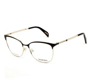 Victor Hugo VH1267 - Preto Fosco/Dourado 0302 55mm - Óculos de Grau