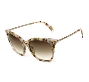 Victor Hugo SH1779S - Floral/Marrom Degradê 07TB 54mm - Óculos de Sol