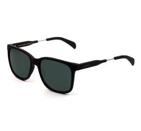 Tommy Hilfiger TH179 - Preto Fosco/Cinza 003IR 55mm - Óculos de Sol