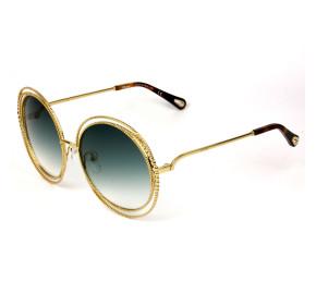 Chloe Carlina Chain CE114S - Dourado/Verde Degradê C838 58mm - Óculos de Sol