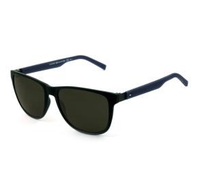 Tommy Hilfiger TH1403/S - Preto Fosco/Cinza R5YNR 56mm - Óculos de Sol