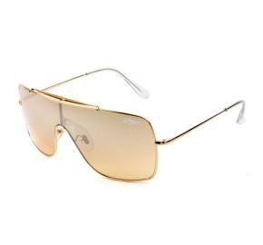 Ray Ban Wings II RB3697 - Dourado Espelhado 9050/Y1 35mm - Óculos de Sol