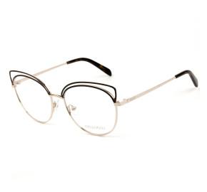 Emilio Pucci EP 5123 - Preto Brilho/Dourado 028 54mm - Óculos de Grau