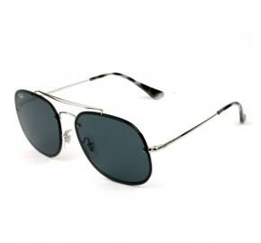 Ray Ban Blaze General RB3583-N - Prata/Cinza Escuro 003/87 58mm - Óculos de Sol