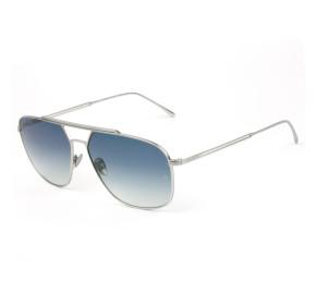 Lacoste L218SPC - Prata/Azul Degradê 045 60mm - Óculos de Sol
