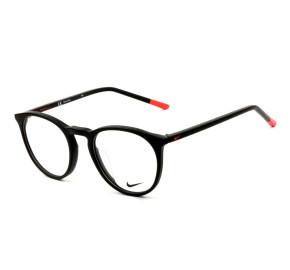 Nike 7251 - Preto Fosco/Laranja 007 49mm - Óculos de Grau