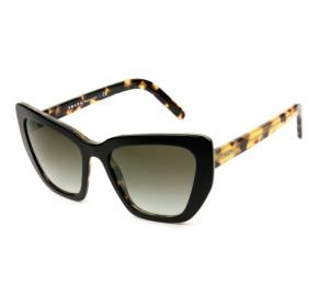 Prada SPR08V - Preto Brilho/Verde Degradê NAI-0A7 55mm - Óculos de Sol