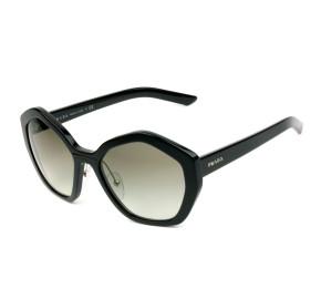 Prada SPR08X - Preto Brilho/Cinza Degradê 1AB-0A7 55mm - Óculos de Sol