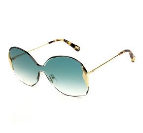 Chloé CE162S - Dourado/Verde Degradê 838 59mm - Óculos de Sol
