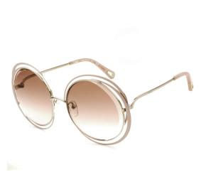 Chloé CE155S - Rose/Marrom Degradê 798 59mm - Óculos de Sol