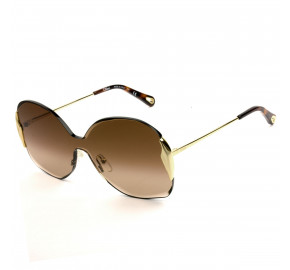 Chloé CE162S - Dourado/Marrom Degradê 742 59mm - Óculos de Sol