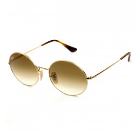 Ray Ban Oval RB1970 Dourado/Marrom Degradê 9147/51 54mm - Óculos de Sol