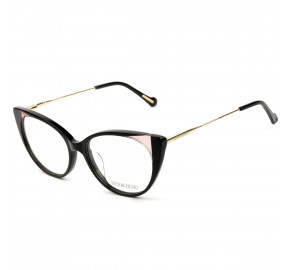Victor Hugo VH1802 - Preto Brilho/Dourado 09P2 51mm - Óculos de Grau