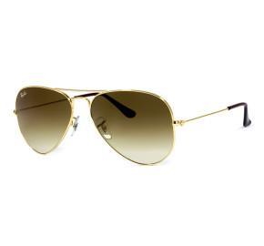 Ray Ban Aviador RB3025L Dourado/Marrom Degradê 001/51 55mm - Óculos de Sol