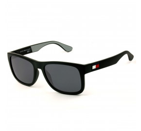 Tommy Hilfiger TH1556/S - Preto Fosco/Cinza 08AIR 52mm - Óculos de Sol