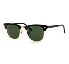 Ray Ban Clubmaster RB3016L - Preto/G15 W0365 51mm - Óculos de Sol