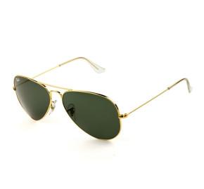 Ray Ban Aviador RB3025L - Dourado/G15 W3234 55mm - Óculos de Sol
