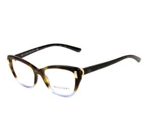 Bvlgari 4122 - Turtle/Azul 5363 54mm - Óculos de Grau