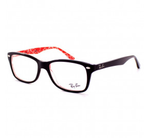 Ray Ban RB5228 Preto/Vermelho 2479 53mm - Óculos de Grau