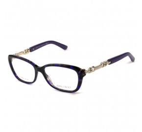 Jimmy Choo 79 - Mesclado/Roxo 8Q4 52mm - Óculos de Grau