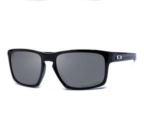 Oakley Sliver 9262L-09 - Preto Brilho/Cinza Polarizado 57mm - Óculos de Sol