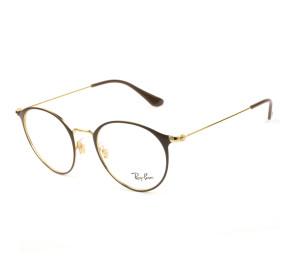 Ray Ban RB6378 Marrom/Dourado 2905 49mm - Óculos de Grau