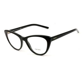 Prada VPR05X  Preto Brilho 1AB-1O1 53mm - Óculos de Grau