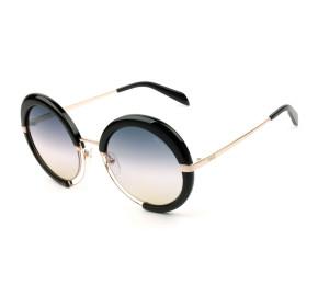 Emilio Pucci EP 114 - Preto Brilho/Marrom Degradê 01B 54mm - Óculos de Sol