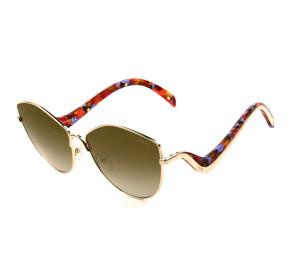 Emilio Pucci EP 118 - Mesclado/Dourado Espelhado 28G 62mm - Óculos de Sol