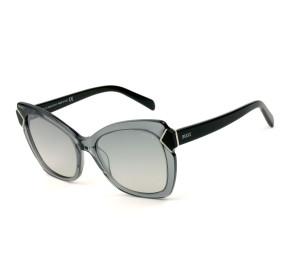 Emilio Pucci EP 90 Cinza Translúcido 20C 55mm - Óculos de Sol