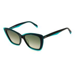 Emilio Pucci EP 107 - Azul Brilho/Cinza Degradê 89B 55mm - Óculos de Sol