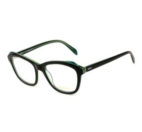 Emilio Pucci EP 5078 - Preto Brilho/Verde 05A 53mm - Óculos de Grau
