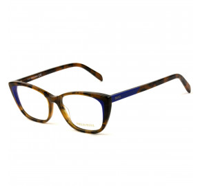 Emilio Pucci EP 5127 - Turtle/Azul Escuro 055 52mm - Óculos de Grau