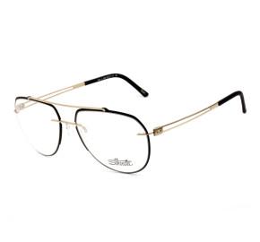 Silhouette 5550 JJ - Preto Fosco/Dourado 7530 57mm - Óculos de Grau