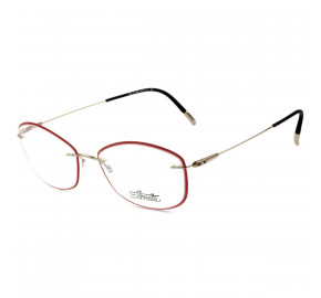 Silhouette 5500 JB - Vermelho/Dourado 7830 54mm - Óculos de Grau