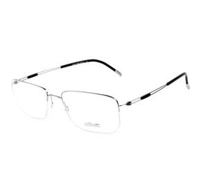 Silhouette 5279 Prata/Preto 10 6060 56mm - Óculos de Grau