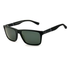 Tommy Hilfiger TH1405/S - Preto Fosco/Cinza KUNP9 56mm - Óculos de Sol
