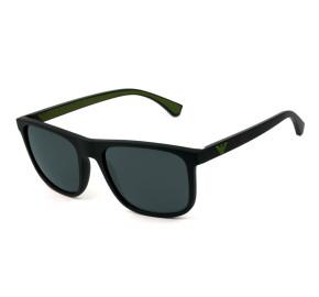 Emporio Armani EA 4129 Preto Fosco Cinza 5042/87 56mm - Óculos de Sol