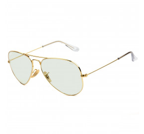 Ray Ban Clear Evolve RB3025 Dourado/Cinza 001/5F 62mm - Óculos de Sol
